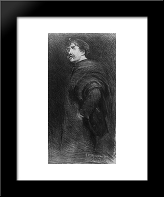 James Mcneill Whistler: Modern Black Framed Art Print by John White Alexander