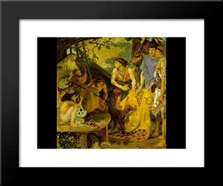 The Coat Of Many Colors: Modern Black Framed Art Print by Ford Madox Brown