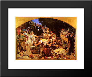 Work: Modern Black Framed Art Print by Ford Madox Brown