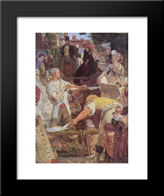 Work [Detail]: Modern Black Framed Art Print by Ford Madox Brown