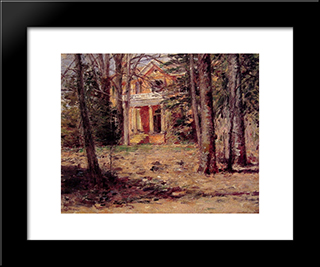 House In Virginia: Modern Black Framed Art Print by Theodore Robinson