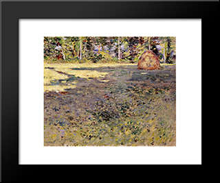 Afternoon Shadows: Modern Black Framed Art Print by Theodore Robinson