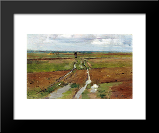 Barbizon: Modern Black Framed Art Print by Theodore Robinson