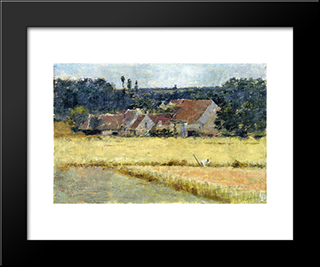 French Farmhouse: Modern Black Framed Art Print by Theodore Robinson