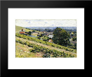 From The Hill, Giverny: Modern Black Framed Art Print by Theodore Robinson
