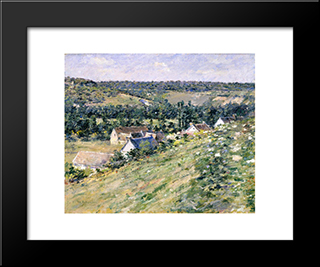 Giverny: Modern Black Framed Art Print by Theodore Robinson