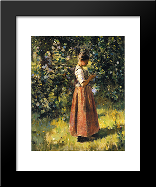 In The Grove: Modern Black Framed Art Print by Theodore Robinson