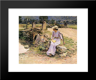 La Debacle: Modern Black Framed Art Print by Theodore Robinson