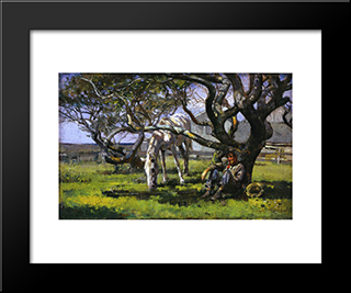 Nantucket: Modern Black Framed Art Print by Theodore Robinson