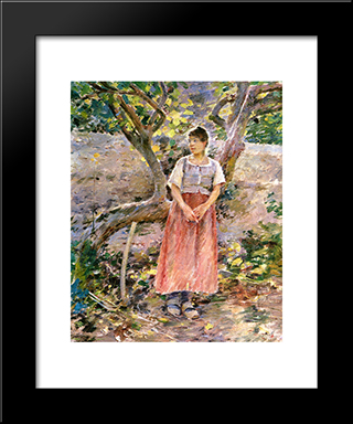 Potato Harvest: Modern Black Framed Art Print by Theodore Robinson