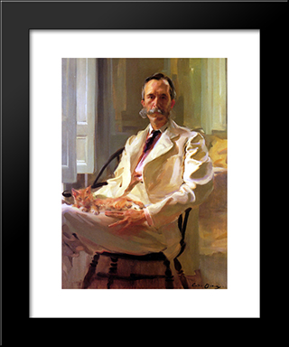 Henry Sturgis Drinker: Modern Black Framed Art Print by Cecilia Beaux