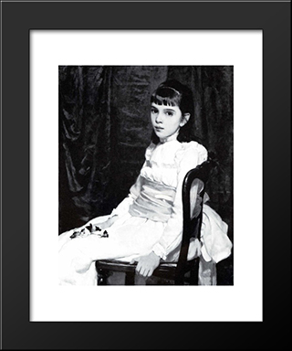 Little Girl: Modern Black Framed Art Print by Cecilia Beaux