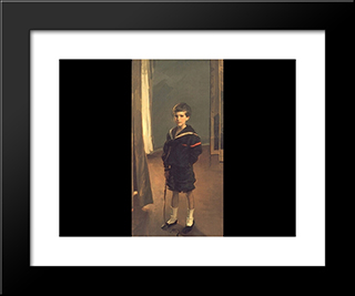 Portrait Of James Murdock Clark Jr.: Modern Black Framed Art Print by Cecilia Beaux