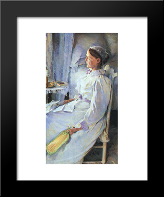 Mrs Jedediah H. Richards: Modern Black Framed Art Print by Cecilia Beaux