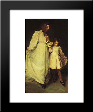 Dorothea And Francesca: Modern Black Framed Art Print by Cecilia Beaux