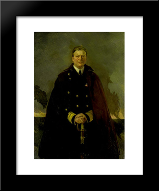 Admiral Sir David Beatty, Lord Beatty: Modern Black Framed Art Print by Cecilia Beaux