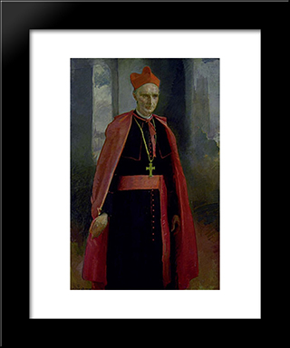 Cardinal Mercier: Modern Black Framed Art Print by Cecilia Beaux