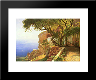 Pergola In Amalfi: Modern Black Framed Art Print by Carl Fredrik Aagaard