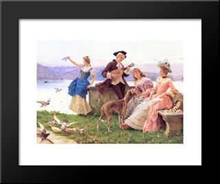 A Day'S Outing: Modern Black Framed Art Print by Federico Andreotti