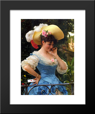 The Love Letter: Modern Black Framed Art Print by Federico Andreotti