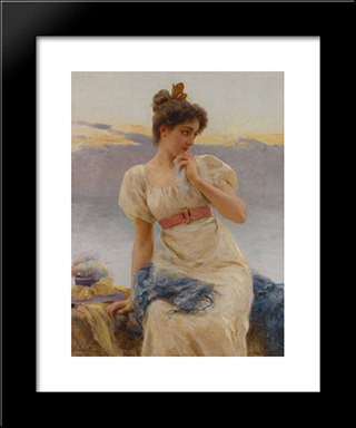 Reverie: Modern Black Framed Art Print by Federico Andreotti