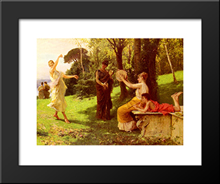 The Dance: Modern Black Framed Art Print by Federico Andreotti