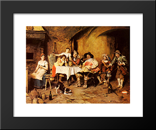 Discretion, The Better Part Of Valour: Modern Black Framed Art Print by Federico Andreotti