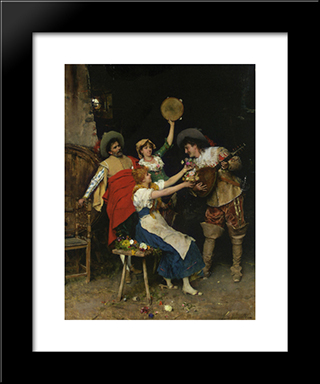 Flowers For Music: Modern Black Framed Art Print by Federico Andreotti