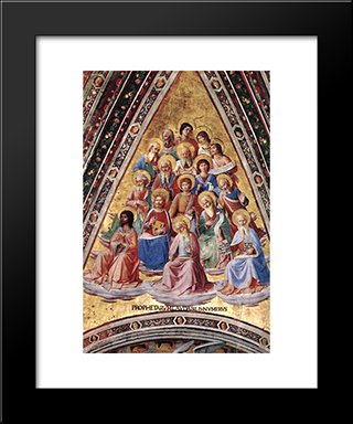 Prophets: Modern Black Framed Art Print by Fra Angelico