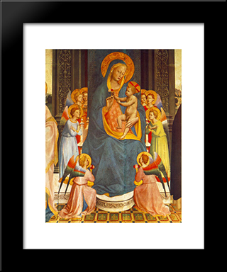 Fiesole Altarpiece (Detail): Modern Black Framed Art Print by Fra Angelico