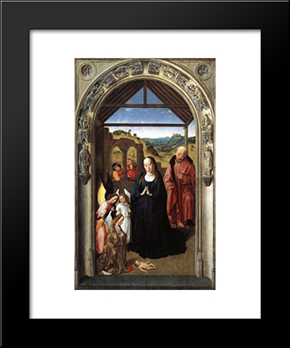 Nativity: Modern Black Framed Art Print by Dirck Bouts
