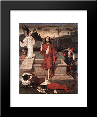 Resurrection: Modern Black Framed Art Print by Dirck Bouts