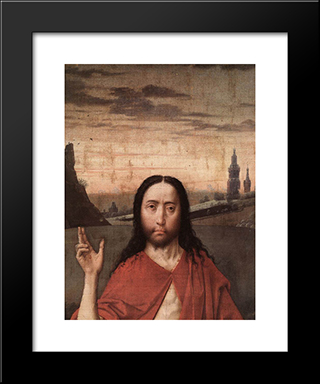 Resurrection (Detail): Modern Black Framed Art Print by Dirck Bouts