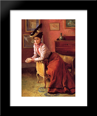 Elegante Au Sofa: Modern Black Framed Art Print by Julius LeBlanc Stewart