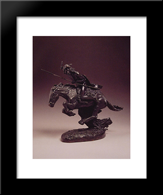The Cheyenne: Modern Black Framed Art Print by Frederic Remington