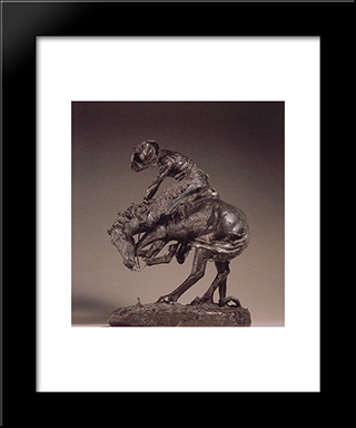 The Rattlesnake: Modern Black Framed Art Print by Frederic Remington