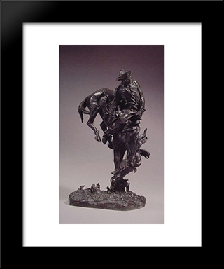 The Outlaw: Modern Black Framed Art Print by Frederic Remington