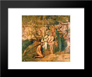 Peace: Modern Black Framed Art Print by Theodore Chasseriau