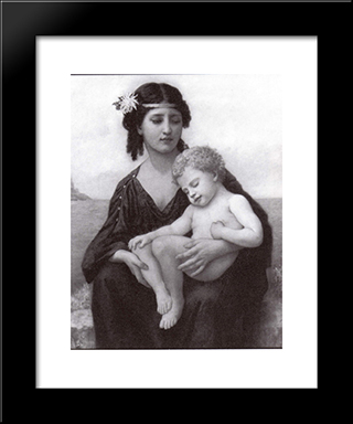 By The Seashore: Modern Black Framed Art Print by Elizabeth Jane Gardner Bouguereau