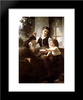 Bubbles: Modern Black Framed Art Print by Elizabeth Jane Gardner Bouguereau