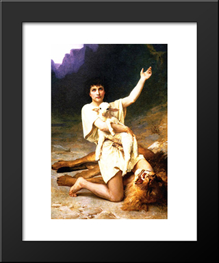 The Shepherd David: Modern Black Framed Art Print by Elizabeth Jane Gardner Bouguereau
