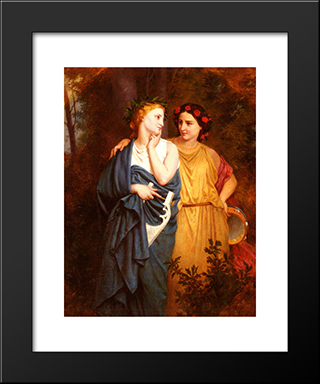 Philomena And Procne: Modern Black Framed Art Print by Elizabeth Jane Gardner Bouguereau