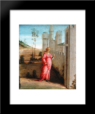 Esther At The Palace Gate: Modern Black Framed Art Print by Filippino Lippi