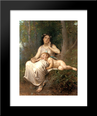 Love And Innocence: Modern Black Framed Art Print by Leon Bazile Perrault