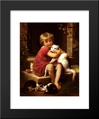 Son Favori: Modern Black Framed Art Print by Leon Bazile Perrault