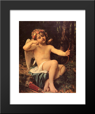 Cupid'S Arrows: Modern Black Framed Art Print by Leon Bazile Perrault