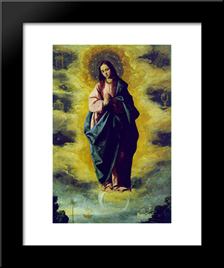 The Immaculate Conception: Modern Black Framed Art Print by Francisco de Zurbaran