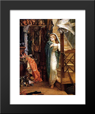 The Property Room: Modern Black Framed Art Print by Arthur Hughes