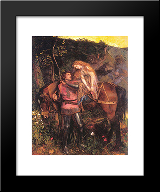 La Belle Dame Sans Merci: Modern Black Framed Art Print by Arthur Hughes