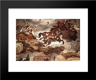 Aurora: Modern Black Framed Art Print by Guercino